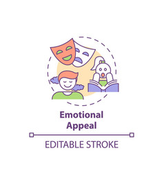Emotional appeal concept icon vector