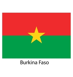 Flag of the country burkina faso vector image