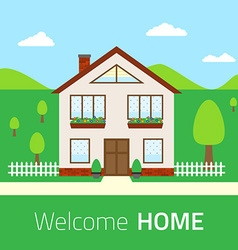 Flat Welcome home vector