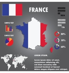 France Map Infographics vector image