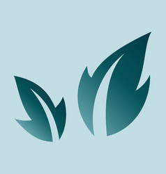 Fresh basil leaves icon flat of basil leaves icon vector
