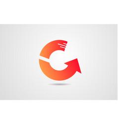 g orange alphabet letter logo icon design vector image