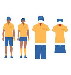 Golf clothes vector