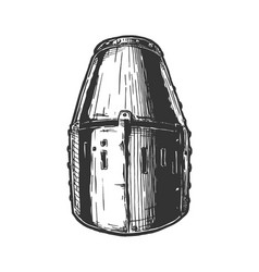 great helm also called pot bucket and barrel vector image
