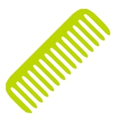Green comb icon flat style vector