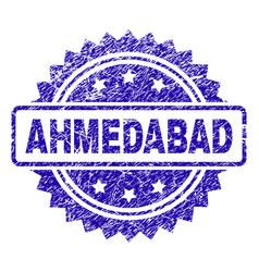 Grunge ahmedabad stamp seal vector
