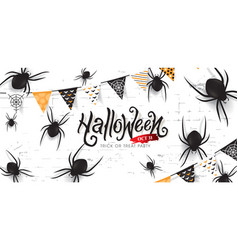 halloween banners party invitation decor with vector image