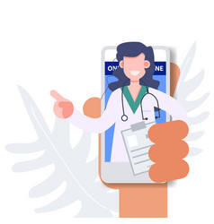 Health care and medical flat character vector