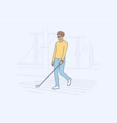 health care blindness desease motion concept vector image