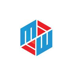 Hexagon logo concept vector