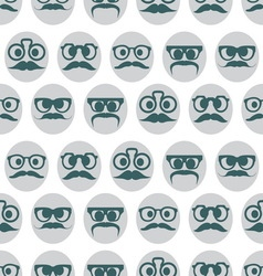 hipster smiley seamless pattern resize vector image