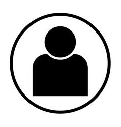 human icon in circle vector image