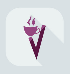 icons in flat-style coffee vector image