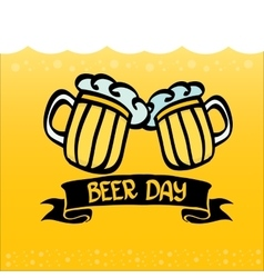 International beer day background vector