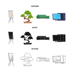 Isolated object of furniture and work sign vector