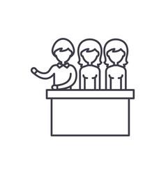 jury trial line icon concept jury trial vector image