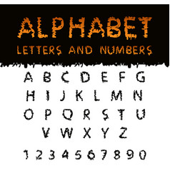 latin alphabet with scribble texture vector image