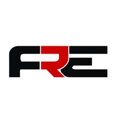 letter fre modern vector image