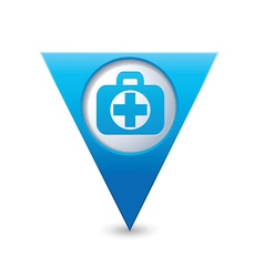 medical icon pointer blue vector image