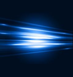 Modern blue transparent hi-tech speed of light vector