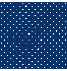 Navy Blue White Star Polka Dots Background vector