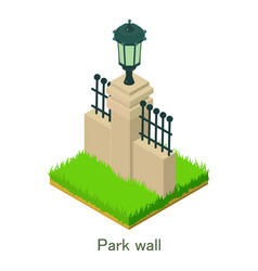 park wall icon isometric style vector image