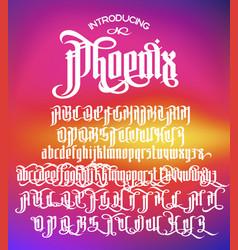 phoenix gothic font vector image