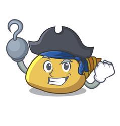 Pirate mollusk shell character cartoon vector
