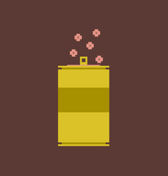 Pixel icon in flat style can of soda vector