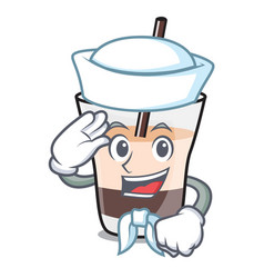 Sailor white russian character cartoon vector