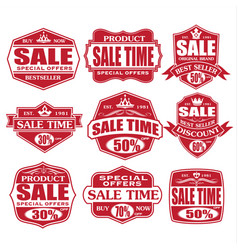sale labels and tags red grunt stamp design vector image