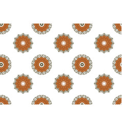 seamless background with oriental mandalas vector image