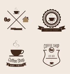 Set of Coffee Shop Logo vector image