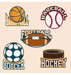 set of vintage sport labels and elements vector image