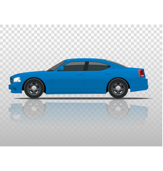 side view of business sedan vehicle template vector image