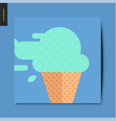 simple things - ice cream vector image