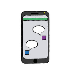 Smartphone bubble chat dialog device technology vector
