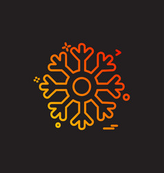snowflakes icon design vector image