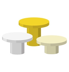 Sports Round podium on a white background Three vector image