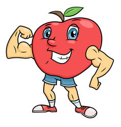 strong smiling apple vector image