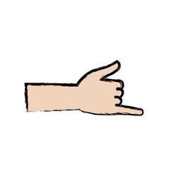 Surfing shaka hand sign gesture vector