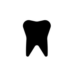 tooth icon black on white vector image