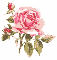 Trace of elegant rose vector image