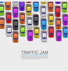 Traffic jam on the road vector