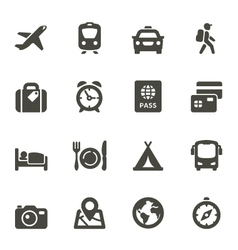 Traveling and transport icons vector image