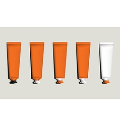 Tubes for packaging orange set vector image