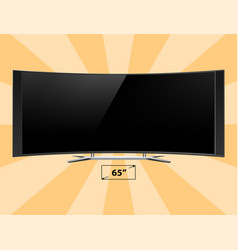 tv screen lcd monitor template electronic device vector image
