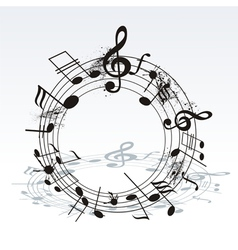 Twisted Music Notes vector image