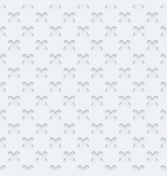 white embossed paper seamless pattern vector image