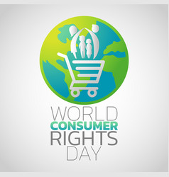 world consumer rights day logo icon design vector image